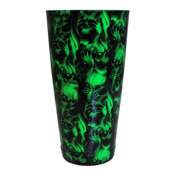 Cocktail Shaker Tin - Printed Designer Series - 28oz weighted - NEON GREEN Evil