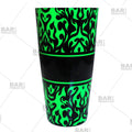 Neon Green Swirls Cocktail Shaker Tin