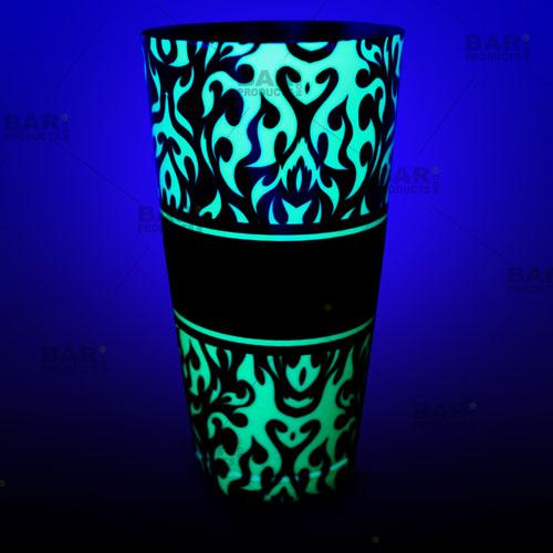 Cocktail Shaker Tin Glows NEON GREEN!
