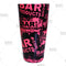 Cocktail Shaker Tin - Printed Designer Series - 28oz weighted - NEON Pink Grungy BPC Logo