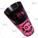 Cocktail Shaker Tin - Printed Designer Series - 28oz weighted - NEON Pink Checkered Skull
