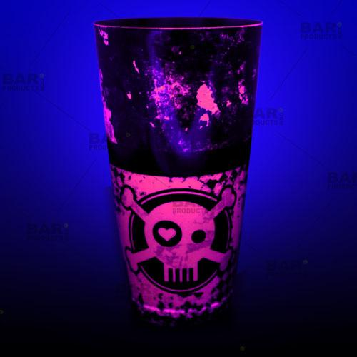 Neon Pink Cocktail Shaker glows under a black light!