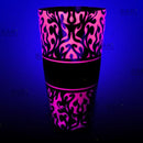 Cocktail Shaker Tin Glows NEON PINK!