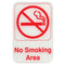 "No Smoking Area - Red on White Sign - 6""x9"""