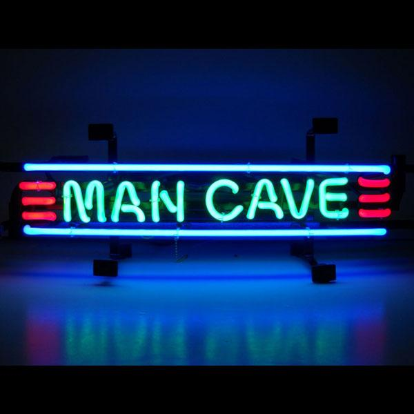 Man Cave Red, Green, & Blue Neon Sign