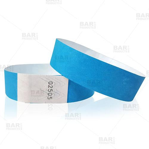 Numbered Wristbands - Light Blue