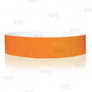 Paper Wristbands - Neon Orange - Box of 500
