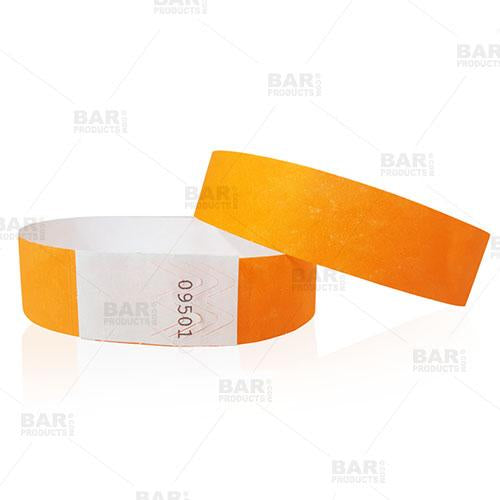 Numbered Wristbands - Neon Orange