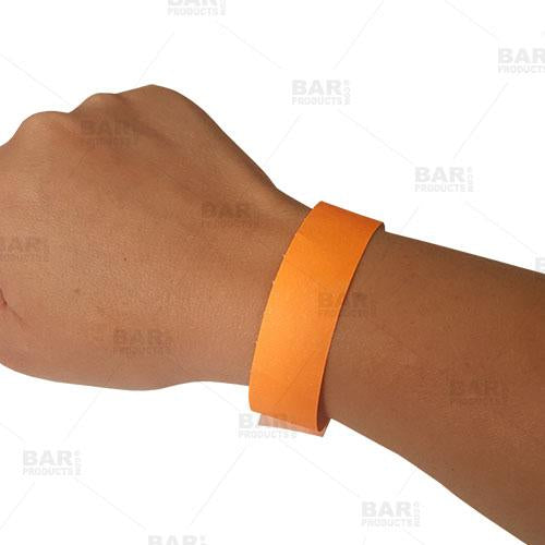 Disposable Wristbands - Neon Orange