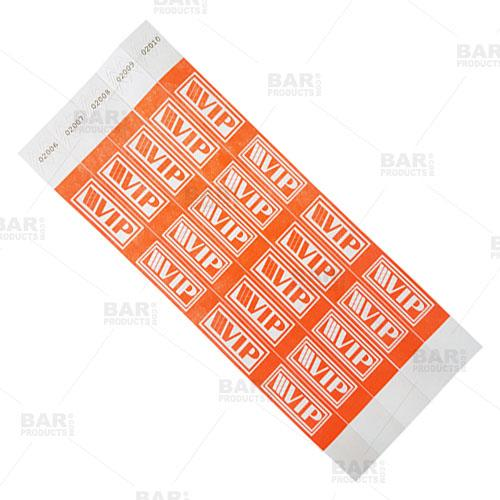 Paper Numbered Wristbands