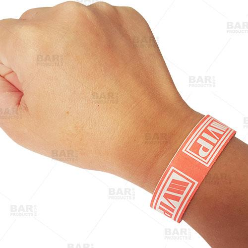 Wristbands - NEON Red / White VIP