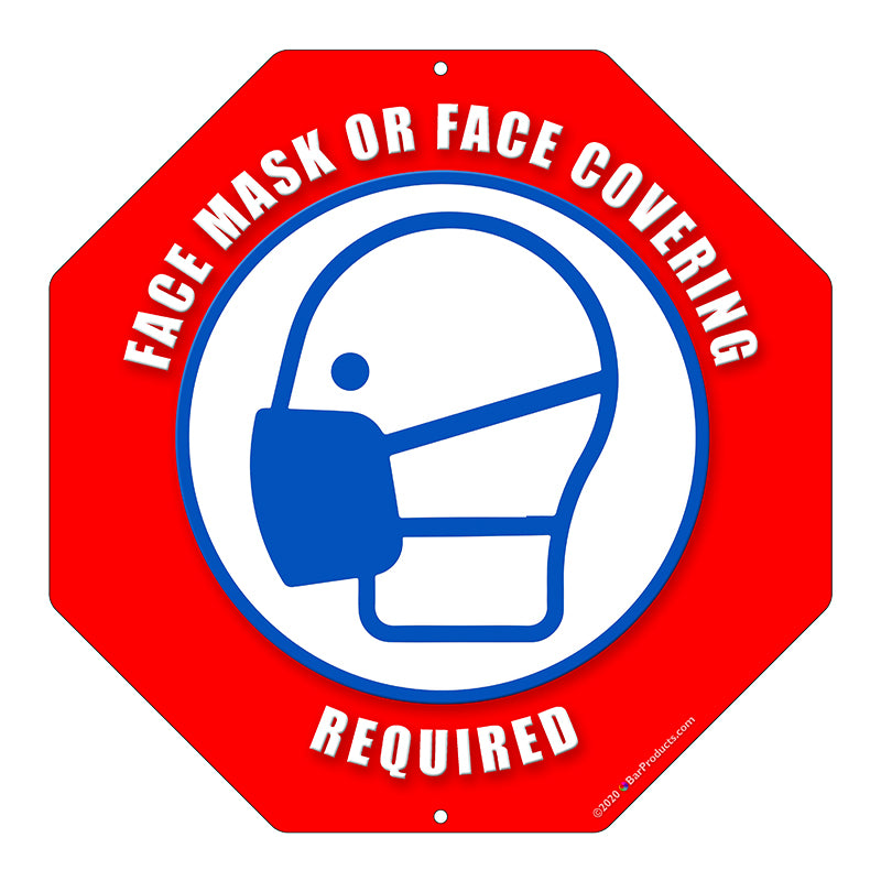 Octagon Kolorcoat™ Metal Sign - Face Mask