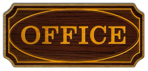 Office Wood Plaque Kolorcoat™ Sign