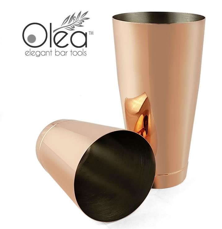 Olea™ Cocktail Shaker Set - Copper Plated - 2 Piece (28 and 16 ounce Tins)