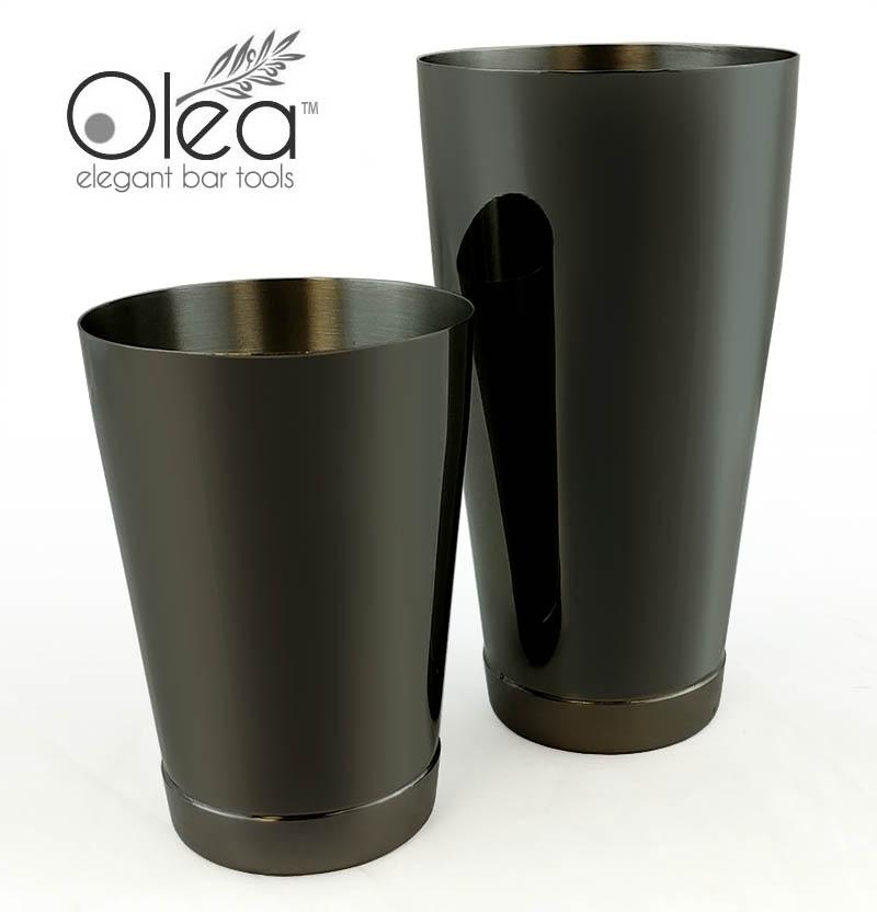 Olea™ Cocktail Shaker Set - Gunmetal Black - 2 Piece (28 and 16 ounce Tins)