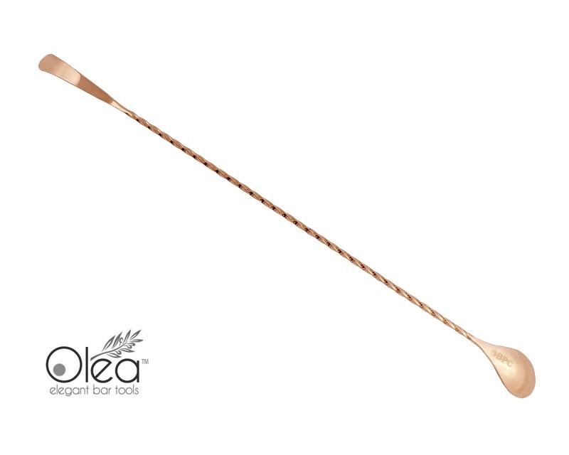 Olea™ Copper Plated Bar Spoon - Bent Tip - 40cm Length