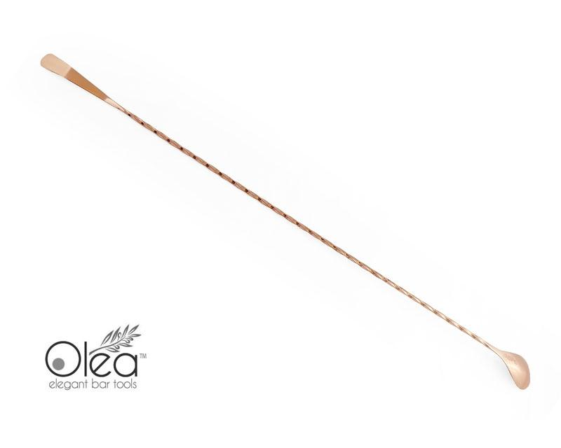 Olea™ Copper Plated Bar Spoon - Bent Tip - 50cm Length