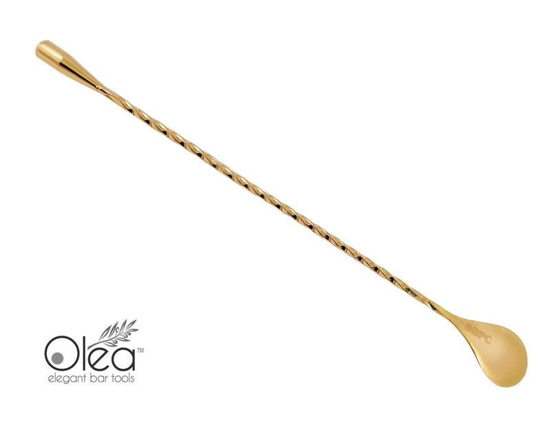 Olea™ Gold Plated Bar Spoon - Weighted Tip - 30cm Length