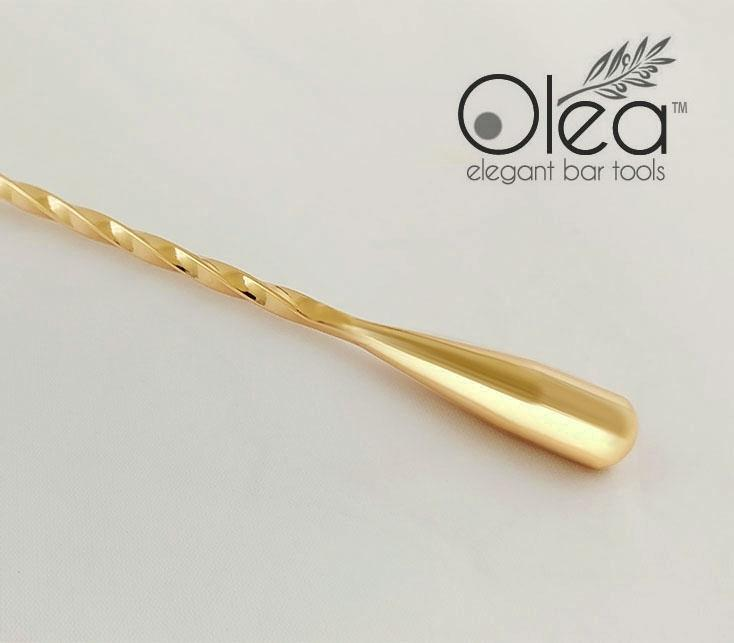 Olea™ Bar Spoon - Gold Plated with Weighted Tip (40cm)