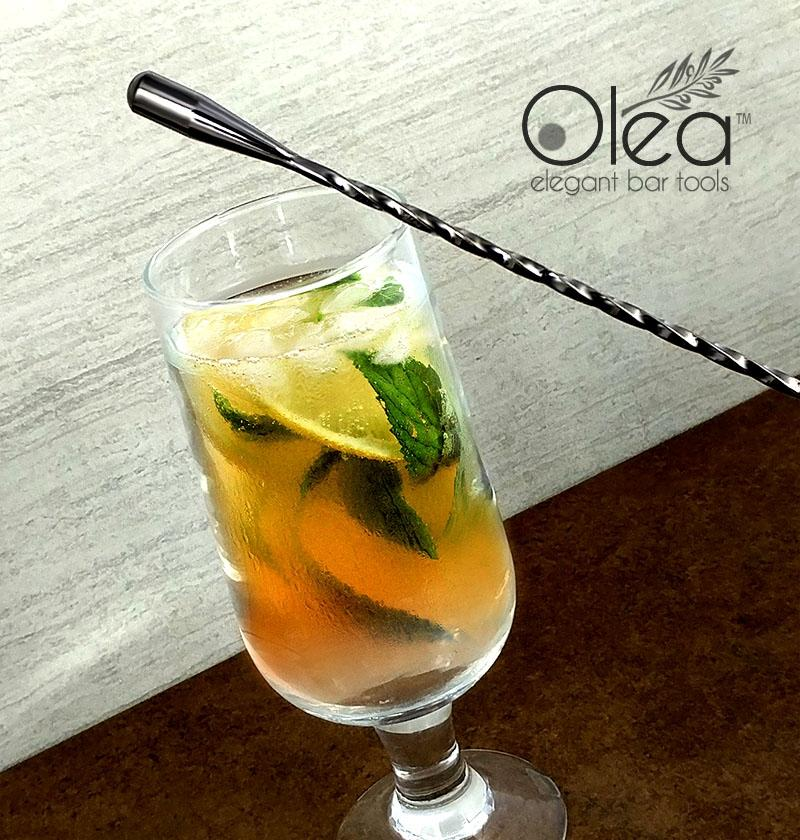 Olea™ Gunmetal Plated Bar Spoon - Weighted Tip - 50cm Length