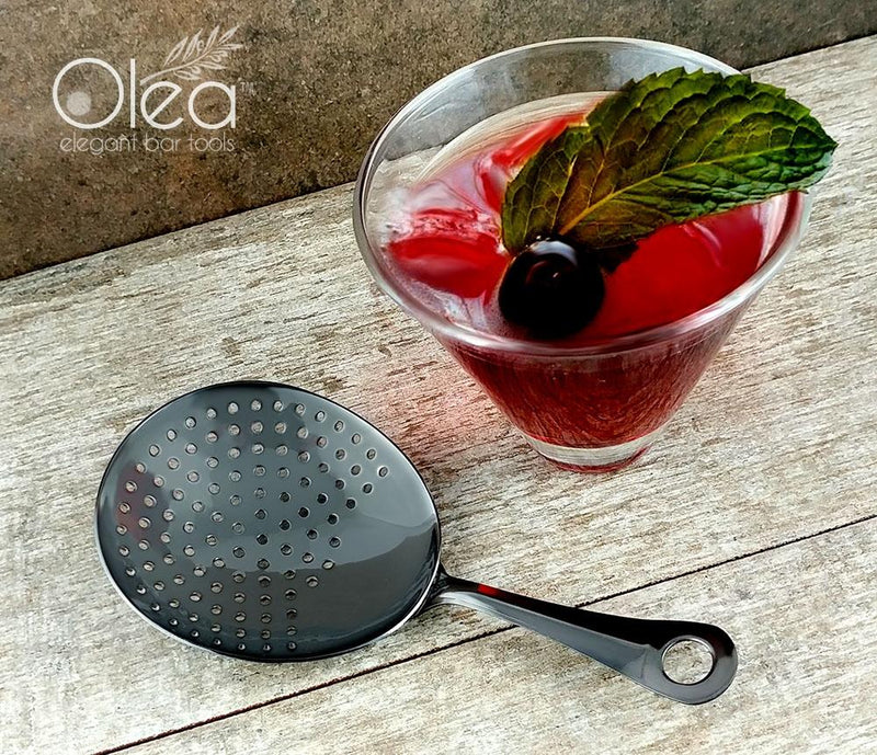Olea™ Julep Cocktail Strainer - Gunmetal Plated