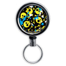 Mirrored Chrome Retractable Reel - Splattered Skulls