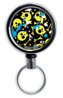 Retractable Reels for Bottle Openers – Splattered Skulls