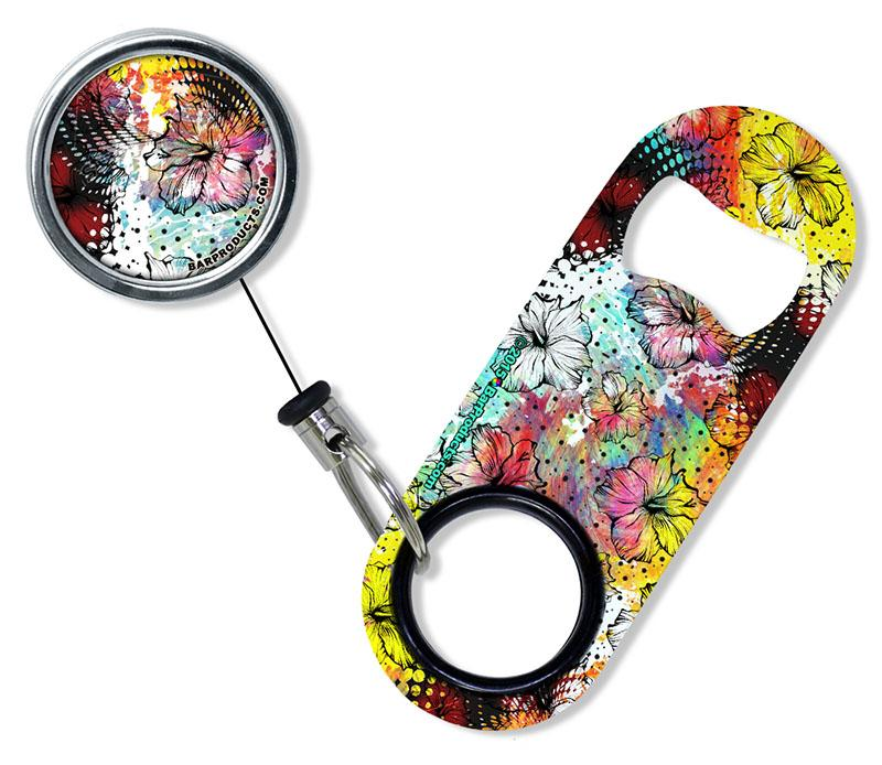 Kolorcoat™ Mini Opener with Retractable Reel SET  - Painted Floral