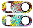 Kolorcoat™ Mini Bottle Opener - Painted Floral
