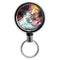 Mirrored Chrome Retractable Reel - Painted Floral