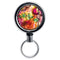 Mirrored Chrome Retractable Reel - Painted Leaves