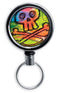 Retractable Reels for Bottle Openers –Colorful Skulls and Crossbones