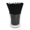 "BarConic® Biodegradable Solid Black Paper Sip Straws - 5 3/4"" - 100 Pack"
