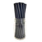 "BarConic® ""Eco-Friendly"" Jumbo Paper Straws - 7 3/4"" Solid Black - 100 pack"