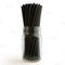 "BarConic® ""Eco-Friendly"" Paper Straws - 7 3/4"" Solid Black - Packs of 100"