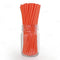 "BarConic® ""Eco-Friendly"" Paper Straws - 7 3/4"" Orange - Packs of 100"