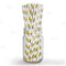 "BarConic® ""Eco-Friendly"" Paper Straws - 7 3/4"" Pineapple Design - Packs of 100"