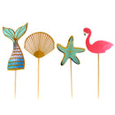 BarConic Tropical Bamboo Cocktail Picks - Assorted Pack of 100