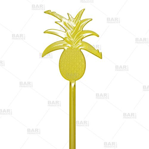 Pineapple Swizzle Cocktail Stirrer - Top