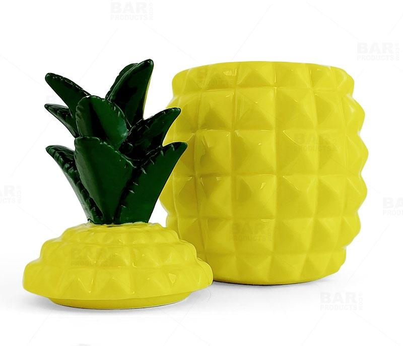 BarConic® Tiki Drinkware - Ceramic Pineapple with Lid - 20 ounce