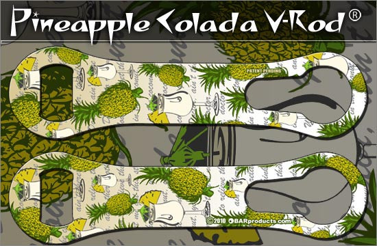 Kolorcoat V-Rod Bottle Opener -Pineapple Colada Hawaiian