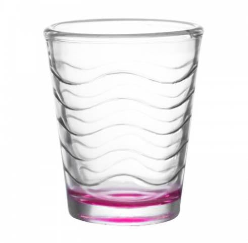 BarConic® 1.75oz Pink Wave Shot Glass