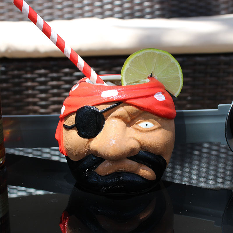 Pirate Head Tiki Mug