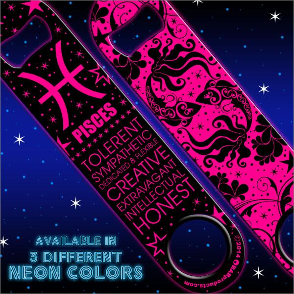 Kolorcoat™ Zodiac Speed Bottle Opener - NEON PINK - PISCES