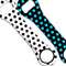 Kolorcoat™ Dog Bone Bottle Opener - Polka Dot - BLUE / BLACK / WHITE