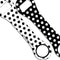 Kolorcoat™ Dog Bone Bottle Opener - Polka Dot - BLACK / WHITE