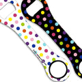 Kolorcoat™ Dog Bone Bottle Opener - Polka Dot - COLORFUL