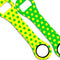 Kolorcoat™ Dog Bone Bottle Opener - Polka Dot - GREEN / YELLOW