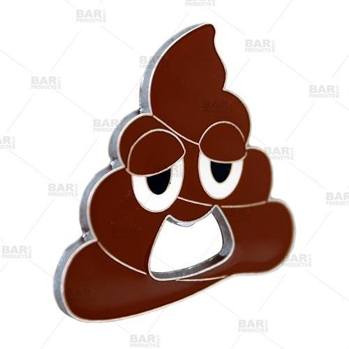 Poop Emoji Bottle Opener - Stainless Steel