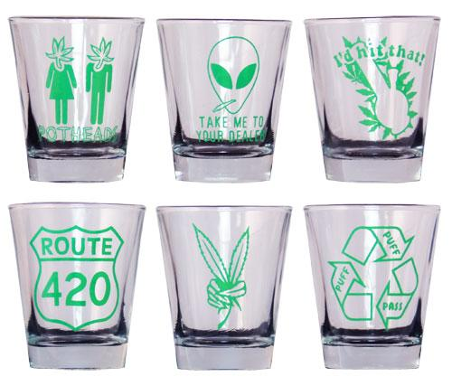 Pot Themed Shot Glass